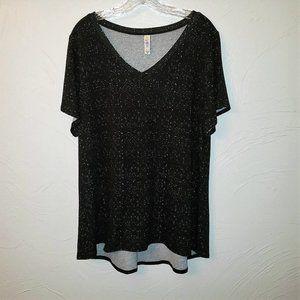 LulaRoe Black White V Neck Tunic Christy T 2XL
